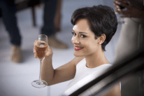 EMPIRE: Anika (Grace Gealey) toasts Lucious in the premiere episode of EMPIRE airing Wednesday, Jan. 7 (9:00-10:00 PM ET/PT) on FOX. ©2014 Fox Broadcasting Co. CR: Chuck Hodes/FOX