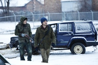 """12 MONKEYS -- """"Pilot"""" Episode 101 -- Pictured: (l-r) Rick Acevedo as Ramse, Aaron Stanford as Cole -- (Photo by: Alicia Gbur/Syfy)"""