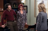 "PARKS AND RECREATION -- ""Ron and Jammy"" Episode 702 -- Pictured: (l-r) Jon Glaser as Councilman Jamm, Megan Mullally as Tammy, Amy Poehler as Amy Poehler -- (Photo by: Danny Feld/NBC)"