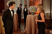 "PARKS AND RECREATION -- ""2017"" Episode 701 -- Pictured: (l-r) Adam Scott as Ben Wyatt, Amy Poehler as Leslie Knope -- Photo by: (Ben Cohen/NBC)"