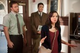 """PARKS AND RECREATION -- """"William Henry Harrison"""" Episode 705 -- Pictured: (l-r) Chris Pratt as Andy Dwyer, Aubrey Plaza as April Ludgate -- (Photo by: Colleen Hayes/NBC)"""