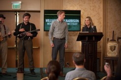 """PARKS AND RECREATION -- """"William Henry Harrison"""" Episode 705 -- Pictured: (l-r) Timothee Baltz as Zach, Amy Poehler as Leslie Knope -- (Photo by: Colleen Hayes/NBC)"""