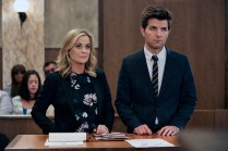 "PARKS AND RECREATION -- ""GryzzlBox"" Episode 706 -- Pictured: (l-r) Amy Poehler as Leslie Knope, Adam Scott as Ben Wyatt -- (Photo by: Ben Cohen/NBC)"
