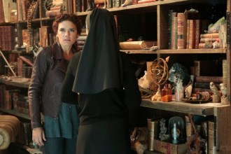 """CONSTANTINE -- """"The Saint of Last Resorts: Part Two"""" Episode 109 -- Pictured: (l-r) Anjelica Celaya as Zed, Claire van der Boom as Anne Marie -- (Photo by: Dan McFadden/NBC)"""