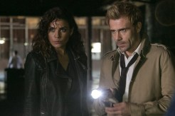 "CONSTANTINE -- ""Quid Pro Quo"" Episode 110 -- Pictured:(l-r) Anjelica Celaya as Zed, Matt Ryan as Constantine -- (Photo by: Tina Rowden/NBC)"