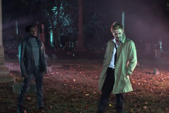 """CONSTANTINE -- """"A Whole World Out There"""" Episode 111 -- Pictured: (l-r) Harold Perrineau as Manny, Matt Ryan Constantine -- (Photo by: Annette Brown/NBC)"""