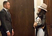 """EMPIRE: Andre (Trai Byers, L) and Cookie (Taraji P. Henson, R) chat in the """"Dangerous Bonds"""" episode of EMPIRE airing Wednesday, Feb. 4 (9:00-10:00 PM ET/PT) on FOX. ©2014 Fox Broadcasting Co. CR: Chuck Hodes/FOX"""