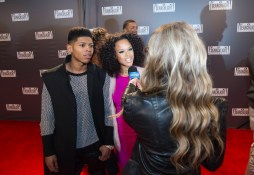 """EMPIRE: Hakeem (Bryshere Gray, L) and Tiana (guest star Serayah, R) attend a red carpet event in the """"Dangerous Bonds"""" episode of EMPIRE airing Wednesday, Feb. 4 (9:00-10:00 PM ET/PT) on FOX. ©2014 Fox Broadcasting Co. CR: Chuck Hodes/FOX"""