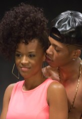 """EMPIRE: Hakeem (Bryshere Gray, R) and Tiana (guest star Serayah McNeil, L) share a moment in the """"Dangerous Bonds"""" episode of EMPIRE airing Wednesday, Feb. 4 (9:00-10:00 PM ET/PT) on FOX. ©2014 Fox Broadcasting Co. CR: Chuck Hodes/FOX"""