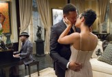 "EMPIRE: Lucious (Terrence Howard, C) surprises Anika ((Grace Gealey, R) with a performance from Anthony Hamilton (guest star) in the ""Dangerous Bonds"" episode of EMPIRE airing Wednesday, Feb. 4 (9:00-10:00 PM ET/PT) on FOX. ©2014 Fox Broadcasting Co. CR: Chuck Hodes/FOX"