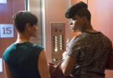 """EMPIRE: Anika (Grace Gealey, L) runs into Porsha (guest star Ta'Rhonda Jones, R) in the """"Out Damned Spot"""" episode of EMPIRE airing Wednesday, Feb. 11 (9:01-10:00 PM ET/PT) on FOX. ©2015 Fox Broadcasting Co. CR: Chuck Hodes/FOX"""
