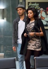 """EMPIRE: Jamal (Jussie Smollett, L) and Cookie (Taraji P. Henson, R) visit Lucious in the """"Out Damned Spot"""" episode of EMPIRE airing Wednesday, Feb. 11 (9:01-10:00 PM ET/PT) on FOX. ©2015 Fox Broadcasting Co. CR: Chuck Hodes/FOX"""