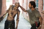 Walker and Andrew Lincoln - The Walking Dead _ Season 5, Episode 8 _ BTS - Photo Credit: Gene Page/AMC