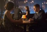 """GOTHAM: Detective James Gordon (Ben McKenzie, R) and Dr. Leslie Thompkins (guest star Morena Baccarin, L) go on a date in the """"The Fearsome Dr. Crane"""" episode of GOTHAM airing Monday, Feb. 2 (8:00-9:00 PM ET/PT) on FOX. ©2015 Fox Broadcasting Co. Cr: Jessica Miglio/FOX"""