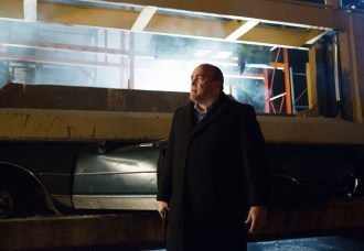 """GOTHAM: Maroni (guest star David Zayas) is upset when Oswald Cobblepot makes his next move in the """"The Fearsome Dr. Crane"""" episode of GOTHAM airing Monday, Feb. 2 (8:00-9:00 PM ET/PT) on FOX. ©2015 Fox Broadcasting Co. Cr: Jessica Miglio/FOX"""