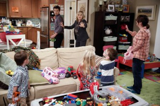 """PARKS AND RECREATION -- """"Donna and Joe"""" Episode 703 -- Pictured: (l-r) Adam Scott as Ben Wyatt, Amy Poehler as Leslie Knope, Rachel Dratch as Roz -- (Photo by: Tyler Golden/NBC)"""