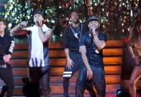 "EMPIRE: Jamal (Jussie Smollett, L) and Hakeem (Bryshere Gray, R) perform together in the special two-hour ""Die But Once/Who I Am"" Season Finale episode of EMPIRE airing Wednesday, March 18 (8:00-10:00 PM ET/PT) on FOX. CR: Chuck Hodes/FOX"