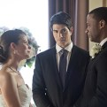 """Arrow -- """"Suicidal Tendencies"""" -- Image AR317A_0146b -- Pictured (L-R): Audrey Marie Anderson as Lyla Michaels, Brandon Routh as Ray Palmer, and David Ramsey as John Diggle -- Photo: Katie Yu/The CW -- �© 2015 The CW Network, LLC. All Rights Reserved."""