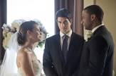 """Arrow -- """"Suicidal Tendencies"""" -- Image AR317A_0146b -- Pictured (L-R): Audrey Marie Anderson as Lyla Michaels, Brandon Routh as Ray Palmer, and David Ramsey as John Diggle -- Photo: Katie Yu/The CW -- © 2015 The CW Network, LLC. All Rights Reserved."""