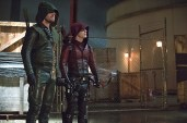 """Arrow -- """"Suicidal Tendencies"""" -- Image AR317B_0238b -- Pictured (L-R): Stephen Amell as Oliver Queen / The Arrow and Colton Haynes as Roy Harper / Arsenal -- Photo: Cate Cameron/The CW -- © 2015 The CW Network, LLC. All Rights Reserved."""