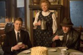 """GOTHAM: Gordon (Ben McKenzie, L) and Bullock (Donal Logue, R) follow a lead to a farmhouse in the country in the """"Everyone Has A Cobblepot"""" episode of GOTHAM airing Monday, March 2 (8:00-9:00 PM ET/PT) on FOX. Also pictured: guest star Becky Ann Baker, C. ©2015 Fox Broadcasting Co. Cr: Jessica Miglio/FOX"""