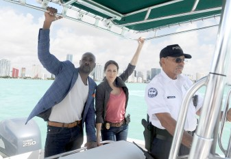 ROSEWOOD: Pictured L-R: Morris Chestnut as Dr. Beaumont Roswood, Jr. and Jaina Lee Ortiz as Det. Villa. ©2015 Fox Broadcasting Co. CR: Jeff Daly/FOX