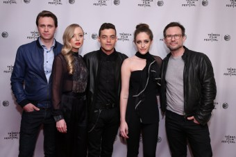 "MR. ROBOT -- ""Tribeca Film Festival Premiere of ""MR. ROBOT"" in New York, NY on Sunday, April 26, 2015 "" -- Pictured: (l-r) Martin Wallstrom, Portia Doubleday, Rami Malek, Carly Chaikin, Christian Slater ""Mr. Robot"" -- (Photo by: Neilson Barnard/USA Network)"