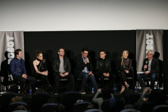 "MR. ROBOT -- ""Tribeca Film Festival Premiere of ""MR. ROBOT"" in New York, NY on Sunday, April 26, 2015 "" -- Pictured: (l-r) Martin Wallstrom, Carly Chaikin, Christian Slater, Sam Esmail, Rami Malek, Portia Doubleday, Jess Cagle -- (Photo by: Neilson Barnard/USA Network)"