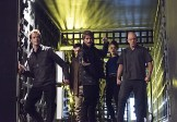 """The Flash -- """"Rogue Air"""" -- Image FLA122A_0351b -- Pictured (L-R): Doug Jones as Jake Simmons, Paul Anthony as Roy G. Bivolo, Liam McIntyre as Mark Mardon, Britne Oldford as Shawna Baez and Anthony Carrigan as Kyle Nimbus -- Photo: Dean Buscher/The CW -- �© 2015 The CW Network, LLC. All rights reserved."""