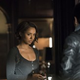 """Vampire Diaries -- """"I'll Wed You in The Golden Summertime"""" -- Image Number: VD621a_0562.jpg -- Pictured (L-R): Kat Graham as Bonnie and Michael Malarkey as Enzo -- Photo: Tina Rowden /The CW -- �© 2015 The CW Network, LLC. All rights reserved."""