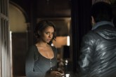 """Vampire Diaries -- """"I'll Wed You in The Golden Summertime"""" -- Image Number: VD621a_0562.jpg -- Pictured (L-R): Kat Graham as Bonnie and Michael Malarkey as Enzo -- Photo: Tina Rowden /The CW -- © 2015 The CW Network, LLC. All rights reserved."""