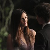 """The Vampire Diaries -- """"I'm Thinking of You All The While"""" -- Image Number: VD622c_0264.jpg -- Pictured (L-R): Nina Dobrev as Elena and Ian Somerhalder as Damon (back to camera) -- Photo: Annette Brown/The CW -- �© 2015 The CW Network, LLC. All rights reserved."""