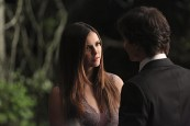 "The Vampire Diaries -- ""I'm Thinking of You All The While"" -- Image Number: VD622c_0264.jpg -- Pictured (L-R): Nina Dobrev as Elena and Ian Somerhalder as Damon (back to camera) -- Photo: Annette Brown/The CW -- © 2015 The CW Network, LLC. All rights reserved."
