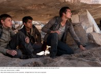 MAZE RUNNER: THE SCORCH TRIALS (left to right) Aris (Jacob Lofland), Winston (Alex Flores) and Thomas (Dylan O'Brien), make their way through the Scorch. Photo credit: Richard Foreman, Jr. SMPSP TM and © 2015 Twentieth Century Fox Film Corporation.  All Rights Reserved.  Not for sale or duplication.