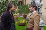 "HANNIBAL -- ""Antipasto"" Episode 301 -- Pictured: (l-r) Tom Wisdom as Anthony Dimmond, Mads Mikkelsen as Dr. Hannibal Lecter -- (Photo by: Brooke Palmer/NBC)"