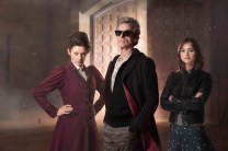 """Doctor Who: Season 9, Episode 1 """"The Magician's Apprentice"""". Photo : Copyright © Simon Ridgway, 2015 / +44 (0)7973 442527 / www.simonridgway.com / pictures@simonridgway.com / 18.02.15 : Doctor Who Series 9 Block 2. Photo Credit: Simon Ridgway, © BBC WORLDWIDE LIMITED. Image includes: Peter Capadli as The Doctor and Jenna Coleman as Clara Oswald, and Michelle Gomez as Missy."""