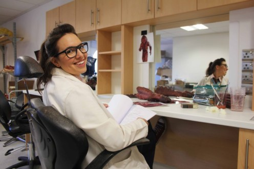 Doctor Who Series 9 Block 2. Picture shows: Ingrid Oliver as Osgood. Doctor Who UNIT scientist Osgood, played by Ingrid Oliver, is back for series nine.