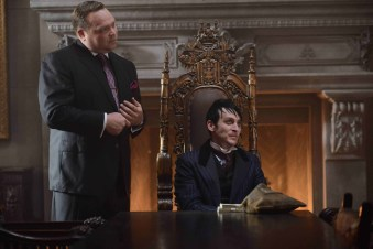 """GOTHAM: (L-R) Butch Gilzean (Drew Powell) and Penguin (Robin Lord Taylor) in the """"Damned if you Do,… """" Season Two premiere of GOTHAM airing Monday, Sept. 21 (8:00-9:00 PM ET/PT) on FOX. ©2015 Fox Broadcasting Co. Cr: Nicole Rivelli/FOX"""