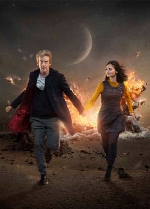 Doctor Who, Season 9, Iconic image (portrait), the Doctor (Peter Capaldi) and Clara Oswald (Jenna Coleman). Photo Credit: © BBC WORLDWIDE LIMITED