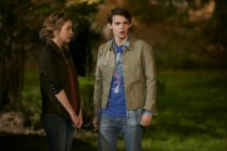 """HEROES REBORN -- """"Under the Mask"""" Episode 103 -- Pictured: (l-r) Gatlin Green as Emily, Robbie Kay as Tommy"""