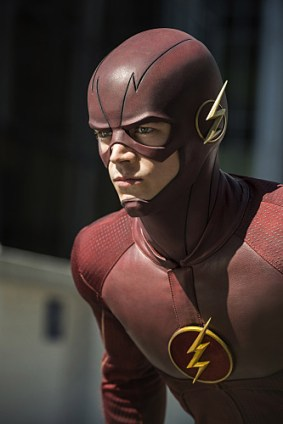 """The Flash --""""The Man Who Saved Central City"""" -- Image FLA201C_0116 -- Pictured: Grant Gustin as The Flash -- Photo Credit -- Cate Cameron/The CW -- © 2015 The CW Network, LLC. All Rights Reserved"""