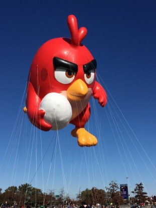 MACY'S THANKSGIVING DAY PARADE -- The 89th Annual Macy's Thanksgiving Day Parade -- Pictured: Angry Birds, new balloon -- (Photo by: Macy's, Inc.)