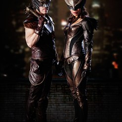 DC's Legends of Tomorrow -- Image LGD01_HM_HG_v01_r01 -- Pictured (L-R): Falk Hentschel as Carter Hall/Hawkman and Ciara Renee as Kendra Saunders/Hawkgirl -- Photo: Michael Courtney/The CW -- �© 2015 The CW Network, LLC. All Rights Reserved.