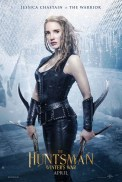 The Huntsman Winter's War Poster; Jessica Chastain as Sara The Warrior. Courtesy of Universal Pictures.