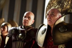 Doctor Who, Season 9, Episode 12, the General (Ken Bones) and the President (Donald Sumpter). Photo Credit: © BBC WORLDWIDE LIMITED