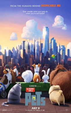 """Theatrical Poster #1 from Illumination Entertainment and Universal Pictures animated film """"The Secret Life of Pets"""". Photo Credit: Universal Pictures"""