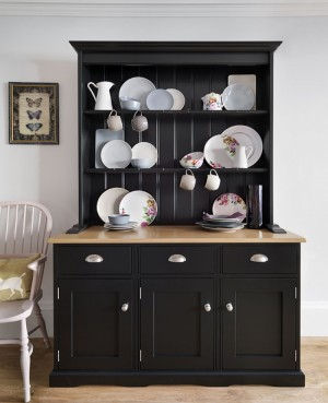 kitchen dresser solid surface countertops small paint and make elegant we spray furniture black suggestion
