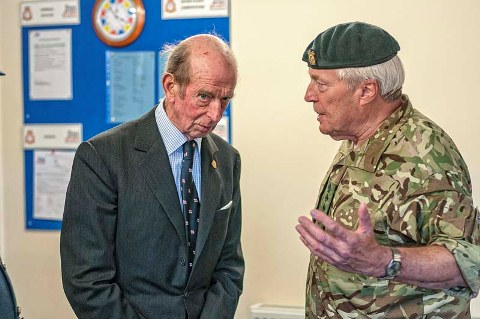 HRH The Duke of Kent with Colonel Paul Richardson