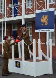 43 Wessex Brigade Flag Lowering Ceremony