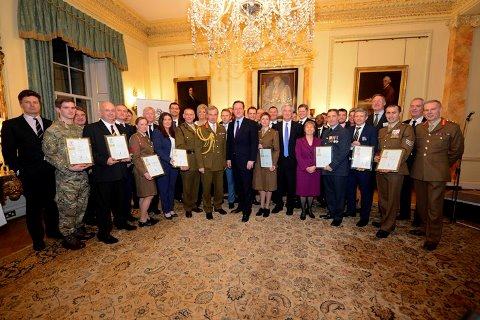 David Cameron hosts an Armed Forces Covenant Reception in Downing Street